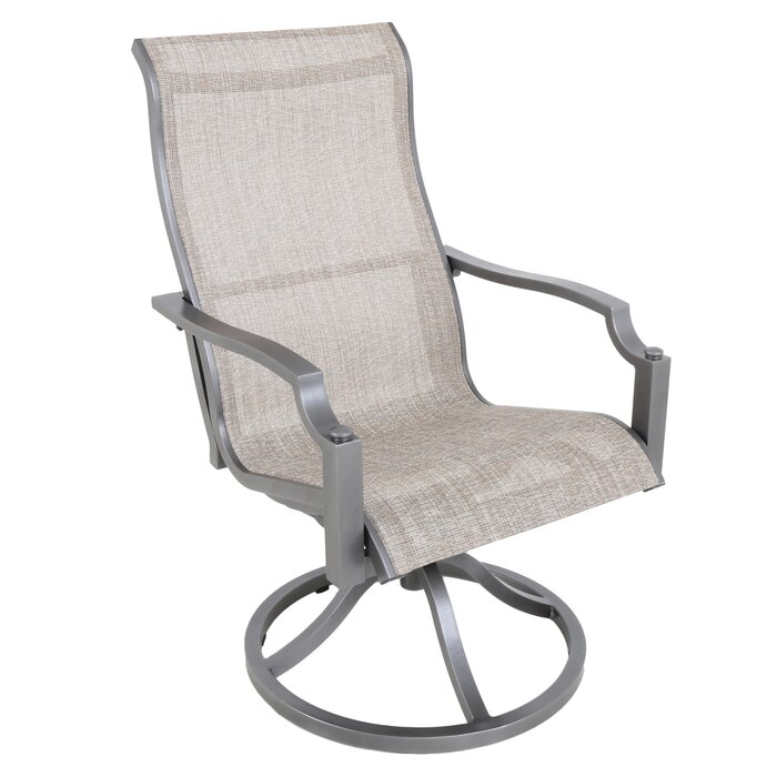 Fantastic Konevsky Sling Swivel Patio Dining Chair Download Free Architecture Designs Remcamadebymaigaardcom