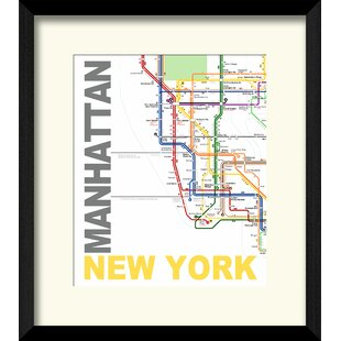 Framed New York Subway Map.New York Subway Map Wayfair