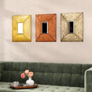 Square Metal Wall Mirror Set Of 3