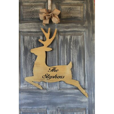 Reindeer Door Hanger Sign