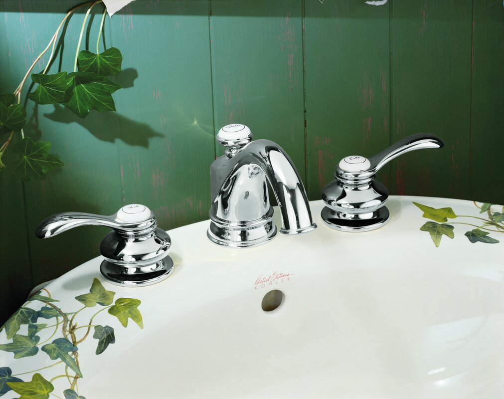 Kohler Fairfax Widespread Double Handle Bathroom Faucet with Drain ...