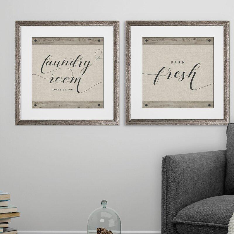 Laundry Room 2 Piece Framed Graphic Art Print Set Birch Lane