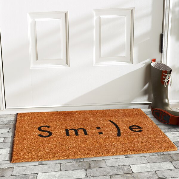 & Home \u0026 More Smile Emoji Doormat \u0026 Reviews | Wayfair