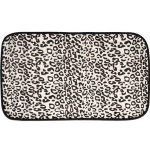 Exotic Snow Leopard Quick Dry Memory Foam Bath Rug