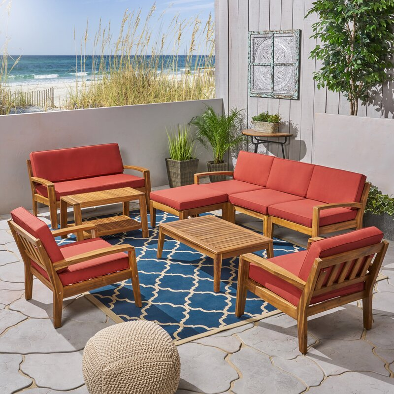 Rumph 9 Piece Sectional Seating Group With Cushions