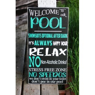 Wooden Pool Signs Wayfairca