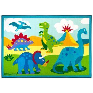 Olive Kids Dinosaur Land Area Rug