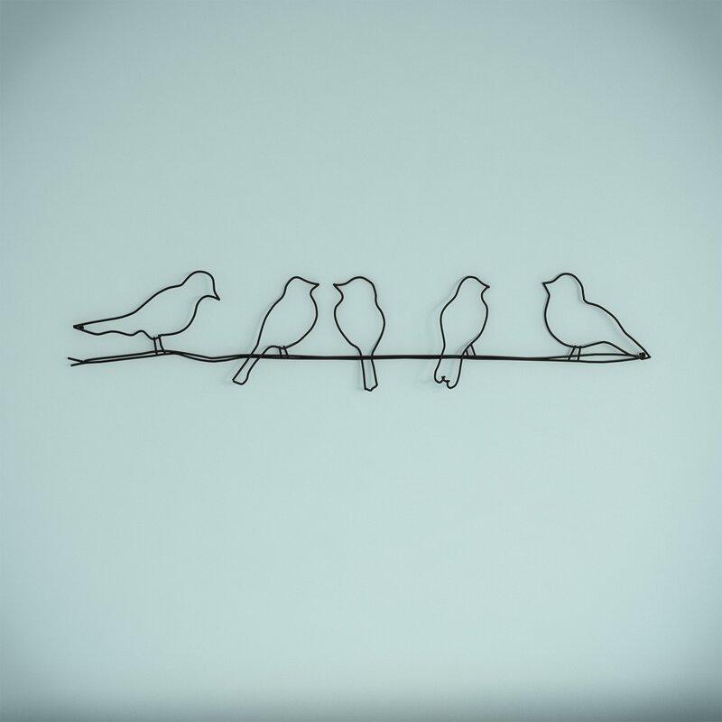Modernmoments wanddekoration birds aus metall for Wanddekoration metall