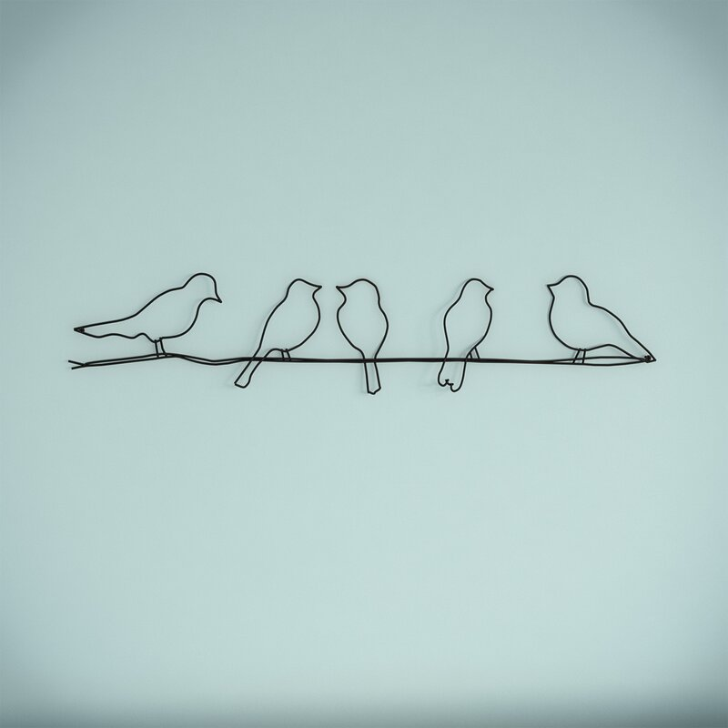 modernmoments wanddekoration birds aus metall bewertungen. Black Bedroom Furniture Sets. Home Design Ideas