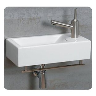 save whitehaus collection isabella ceramic 20 wall mount bathroom sink - Wall Mount Sink