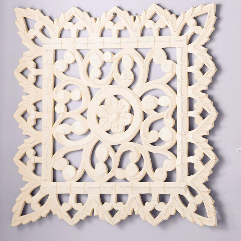 Mistana Geometric White Wood Wall Décor & Reviews | Wayfair