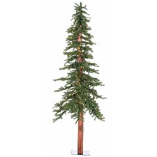 7' Natural Alpine Green Artificial Christmas Tree with 300 Clear Lights
