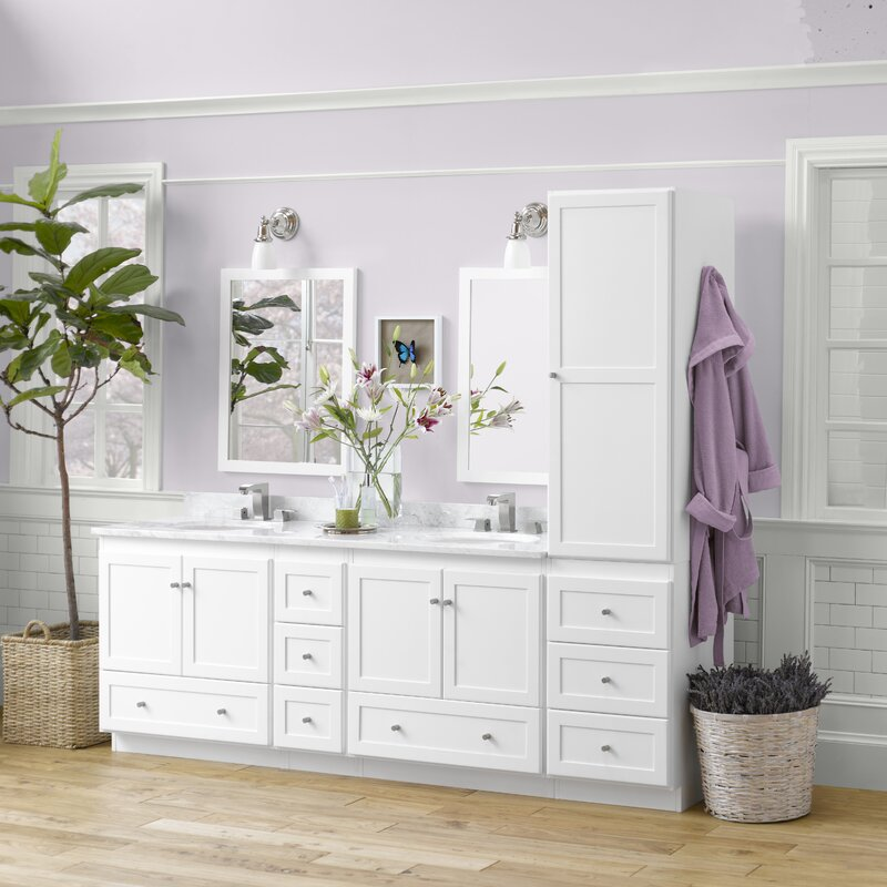 "ronbow shaker 90"" double bathroom vanity set & reviews | wayfair"