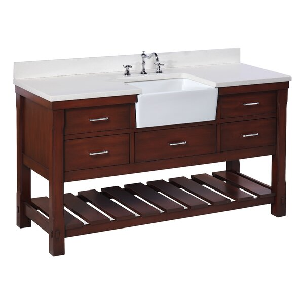 "kbc charlotte 60"" single bathroom vanity set & reviews 
