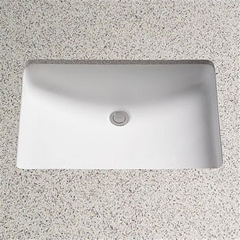 Augusta Decorative Ceramic Rectangular Undermount Bathroom Sink With  Overflow