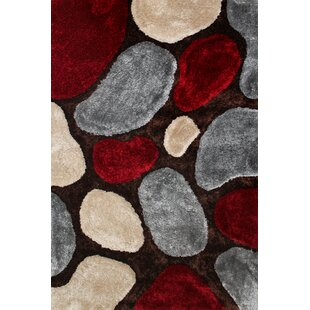 Schaumburg Hand Tufted Grey/Red Rug by Charlton Home