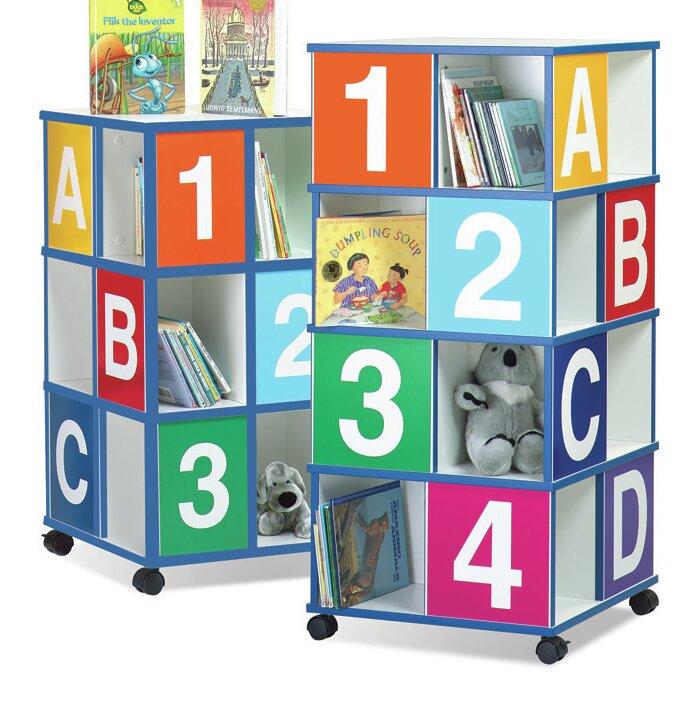 Children S Furniture Co 3 Tier Abc 123 40 Book Cart Wayfair
