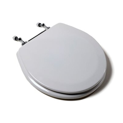 Comfort Seats Deluxe Molded Wood Round Toilet Seat Finish: White, Hinge Finish: White