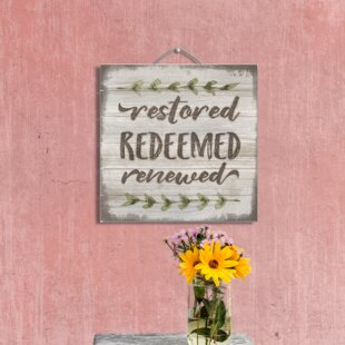 Restored Pallet Reclaimed Wood Sign Wall Décor