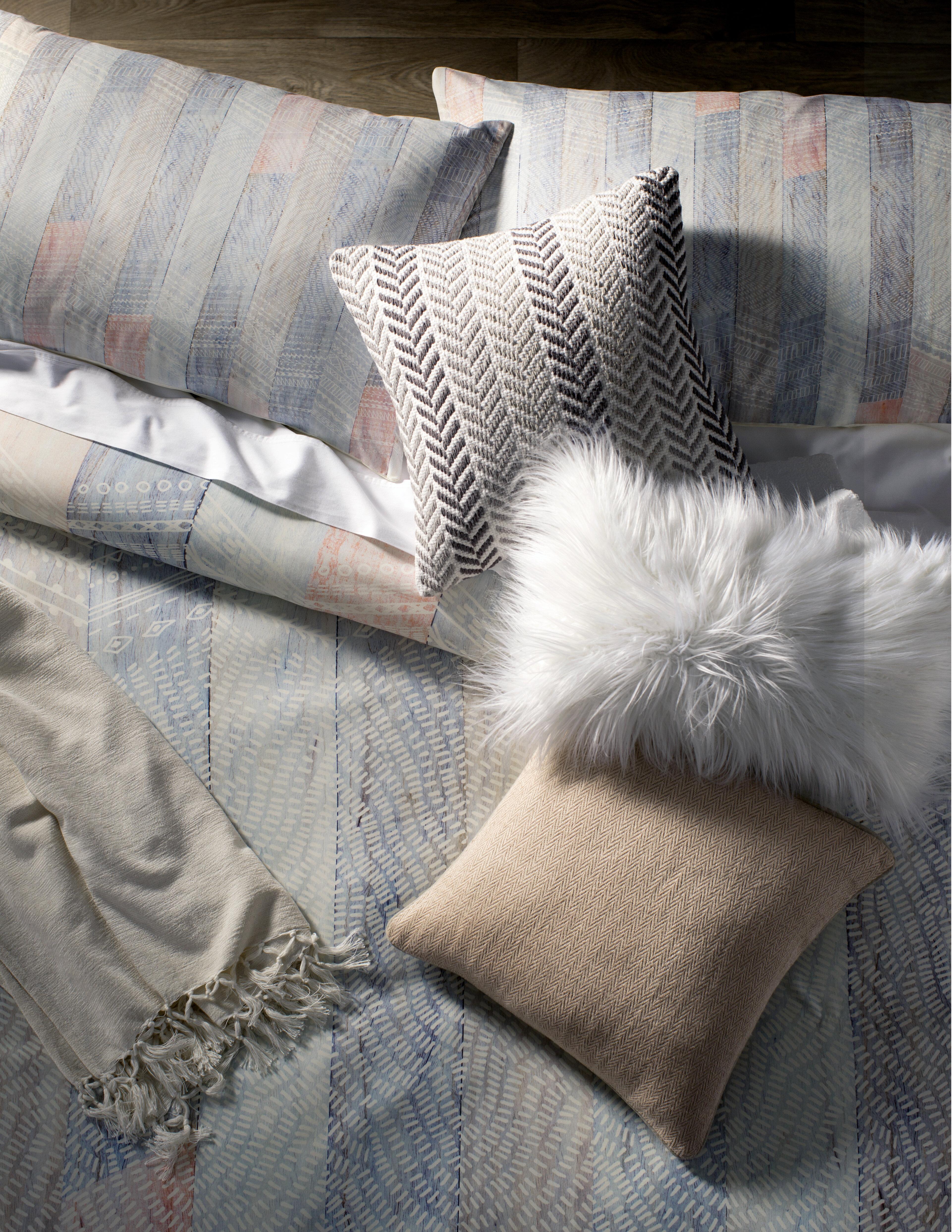 f4a91aca6c2 Galilea Chevron 100% Cotton Throw Pillow