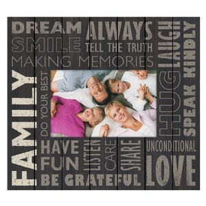 Family Subway Tabletop Picture Frame