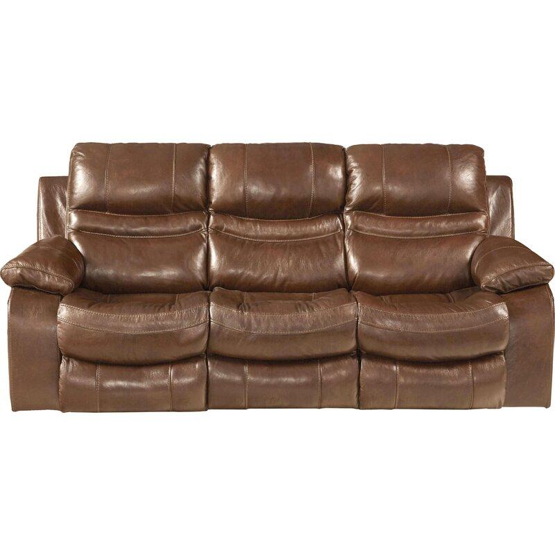 Catnapper Patton Leather Reclining Sofa   Wayfair