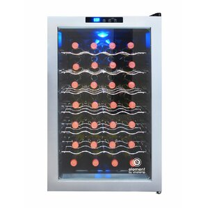 28 Bottle Silver Single Zone Freestanding Wine Cooler by Vinotemp