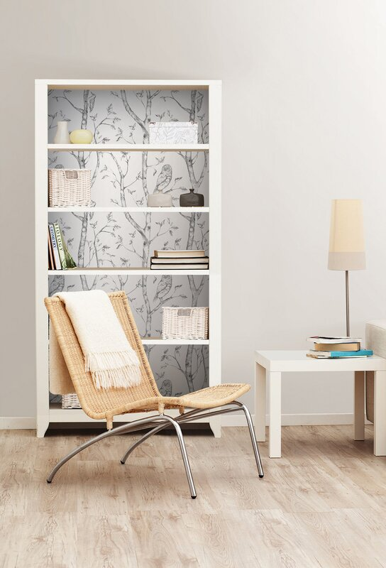 August Grove Kraker 18 X 20 5 Quot Gray Woods Wallpaper Roll