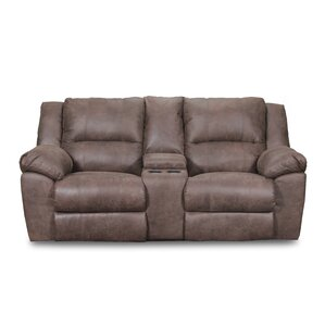 Umberger Double Motion Reclining Sofa by Simmons Upholstery by Loon Peak