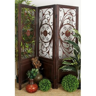 Ciccone Scroll Fret 3 Panel Room Divider
