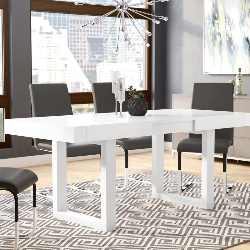 Wayfair All Modern: Orren Ellis Marissa Expandable Dining Table & Reviews