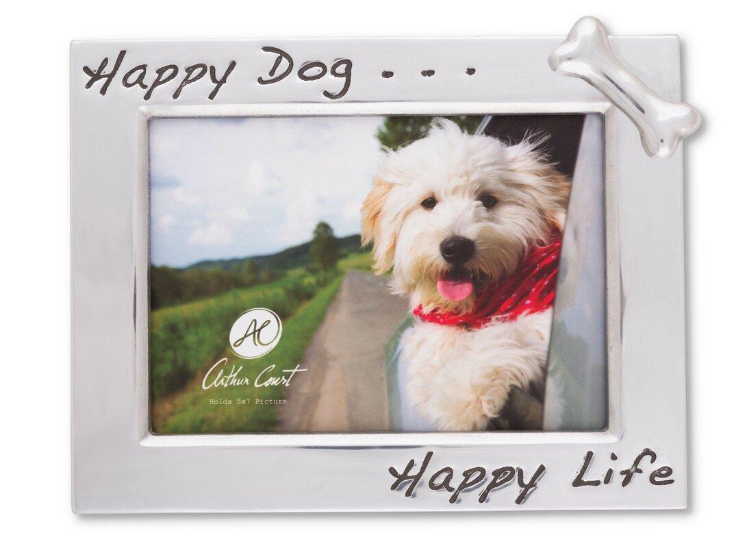Arthur court happy dog picture frame reviews wayfair happy dog picture frame jeuxipadfo Images