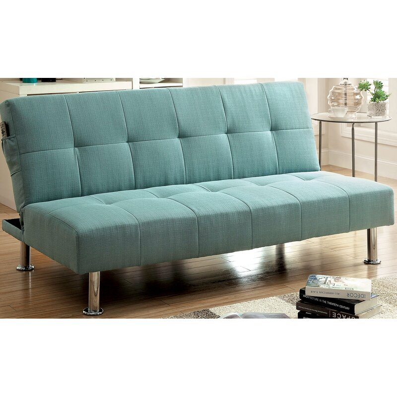 A&J Homes Studio Tufted Futon Convertible Sofa & Reviews | Wayfair