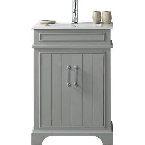 one sink vanity cabinets. 24  Single Vanity Set Bathroom Vanities Joss Main