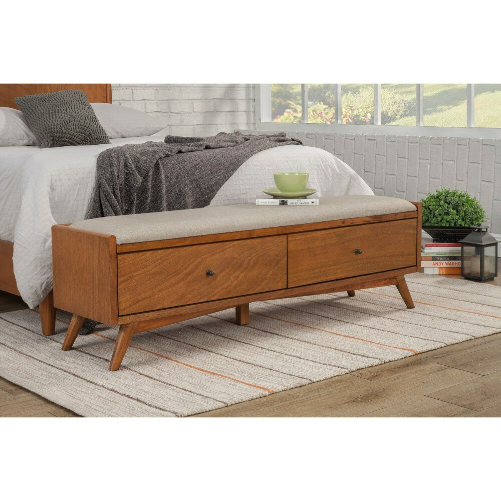 Merveilleux George Oliver Hingham Fashion Forward Mahogany Wood Storage Bench | Wayfair