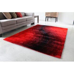 Red Black Area Rug
