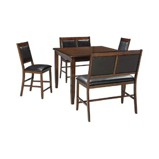 Shofner 5 Piece Counter Height Dining Set
