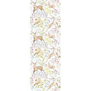 Kensington Removable Woodland Animals Nursery Wallpaper 10 L X 25 W And Stick Roll