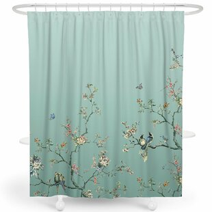 Beau Robinett Flower Birds Single Shower Curtain