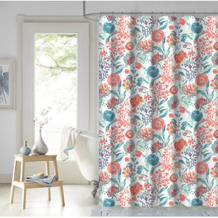 orange and teal shower curtain. Estinville Garden 100  Cotton Shower Curtain Orange Curtains Joss Main