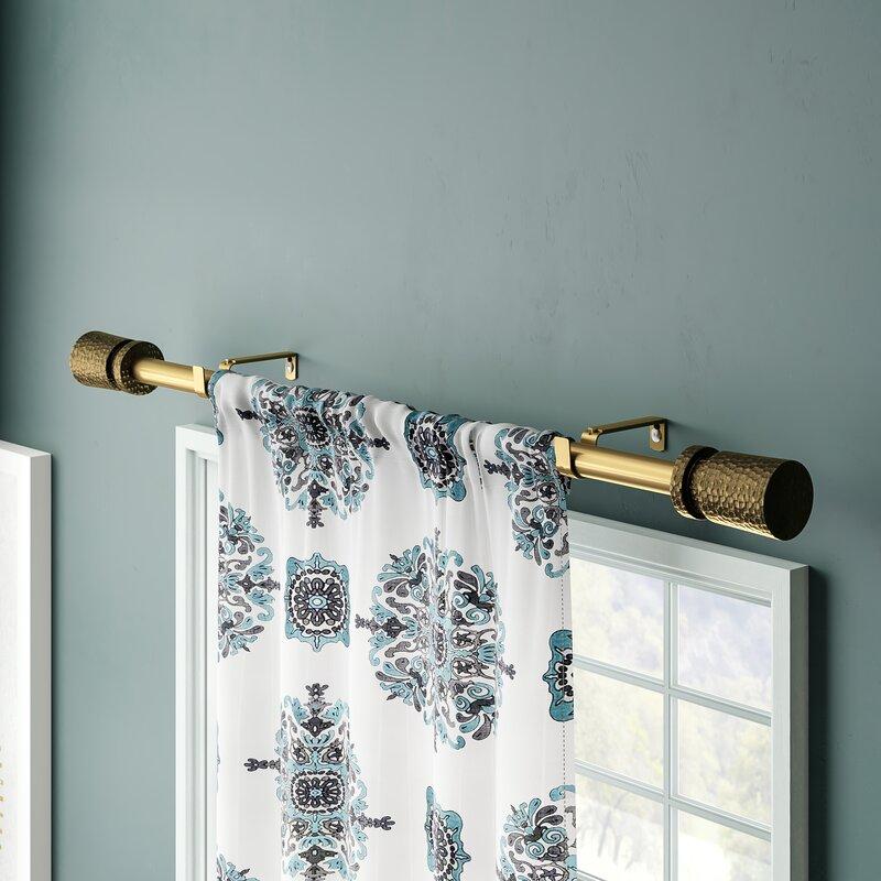 Peterson Adjustable Drapery Tringle Simple Curtain Rod Hardware Set Reviews Allmodern