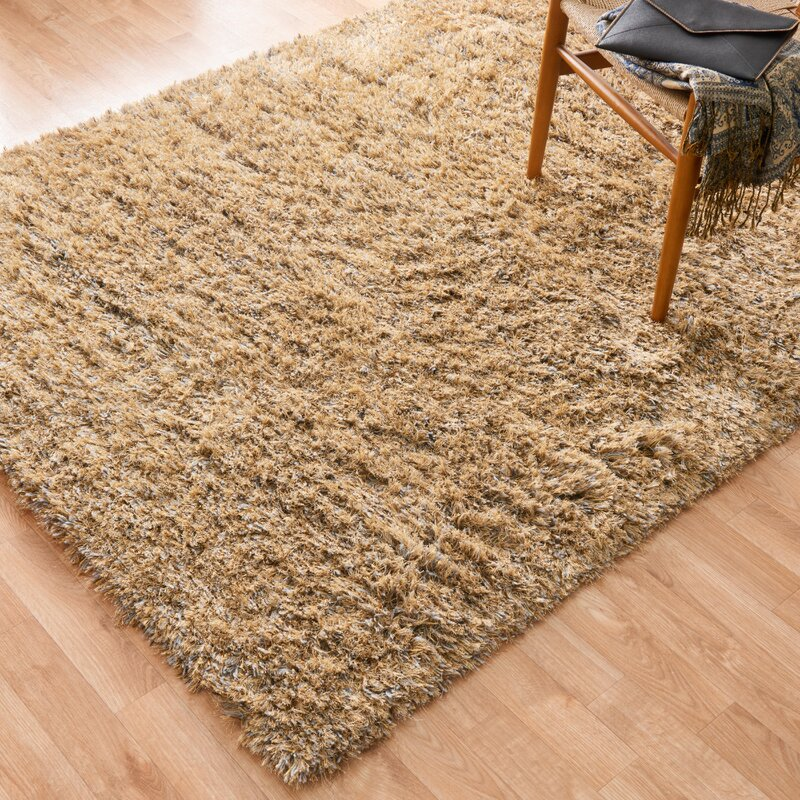 Loloi Rugs Boyd Hand-Woven Faux Fur Gold/Light Brown Area