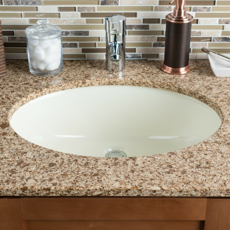 Ordinaire Ceramic Oval Undermount Bathroom Sink With Overflow