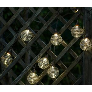 Glass Balls with Metal Wire 10-Light Globe String Lights