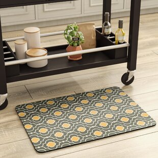 Swofford Gold/Brown Kitchen Mat