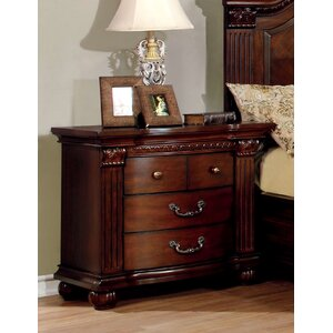 Crispin 3 Drawer Nightstand
