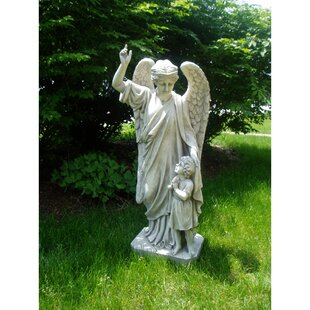 High Quality Guardian Angel Childu0027s Prayer Statue. By Design Toscano