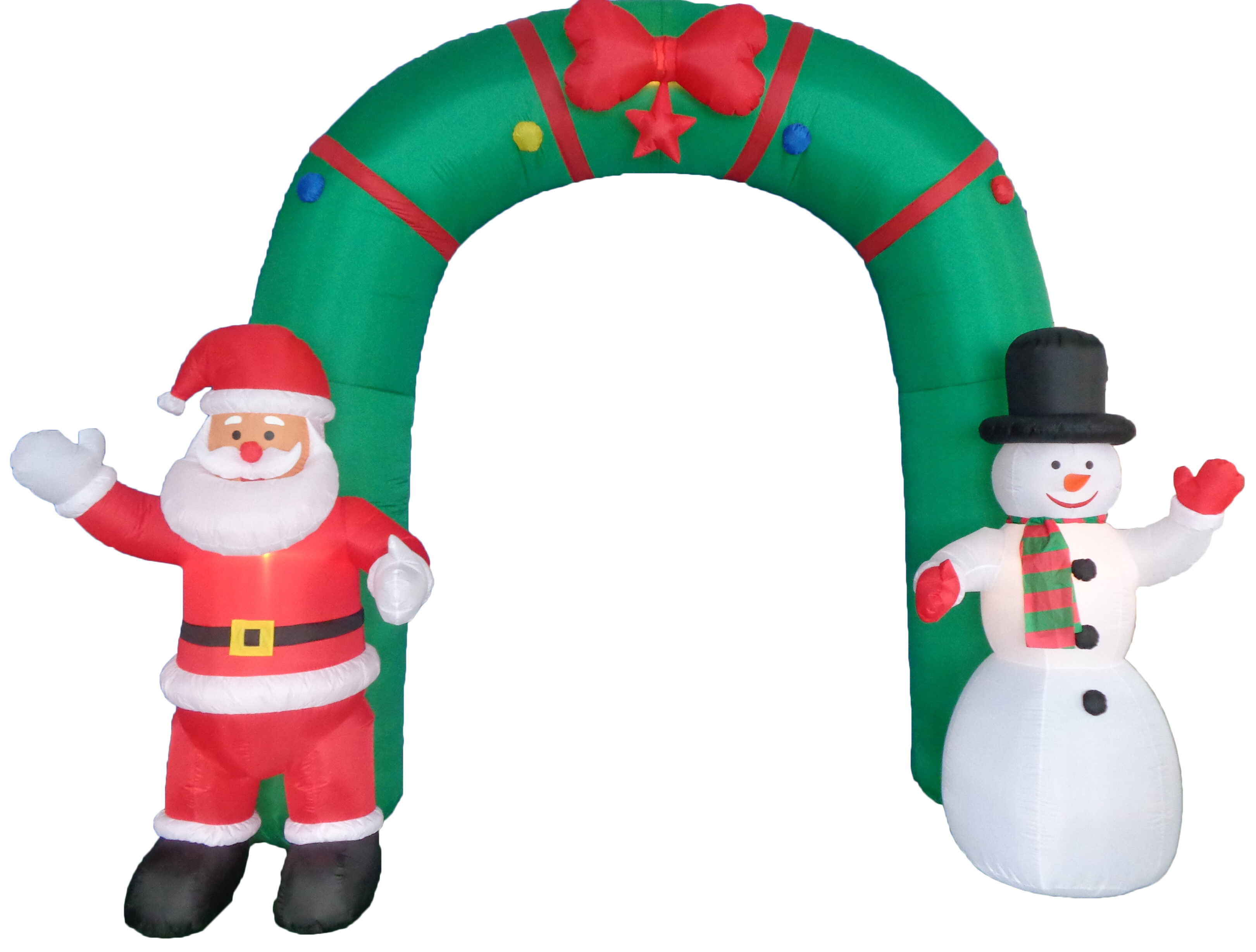 BZB Goods Christmas Inflatable Archway Indoor/Outdoor Decoration ...