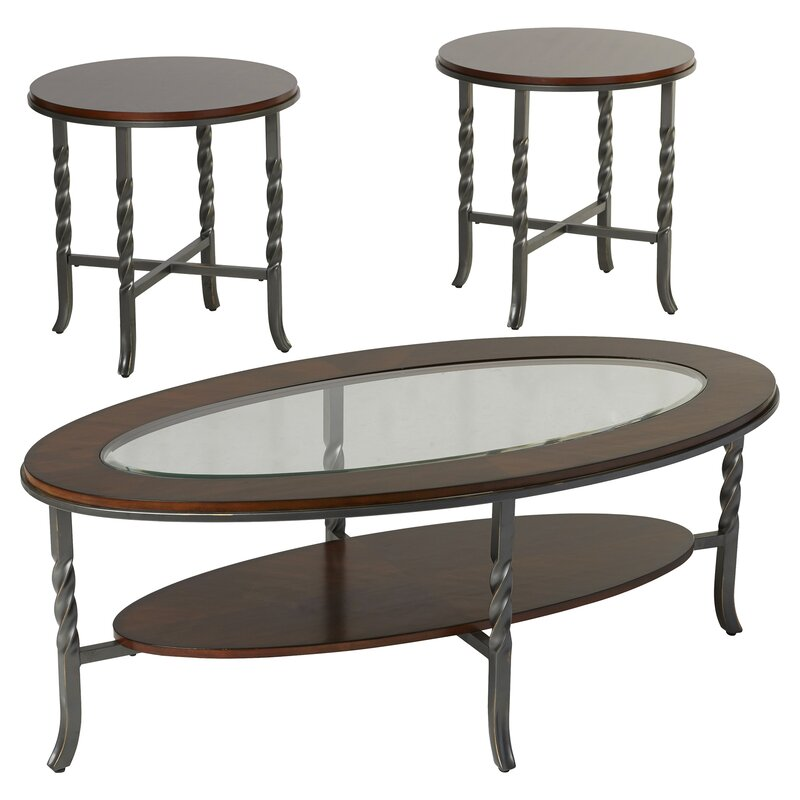 Three Posts Vance 3 Piece Coffee Table Set & Reviews | Wayfair