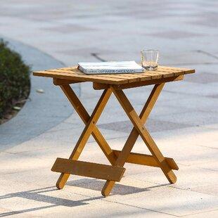 Chartier Folding Wood Side Table
